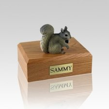 Squirrel Gray Small Cremation Urn