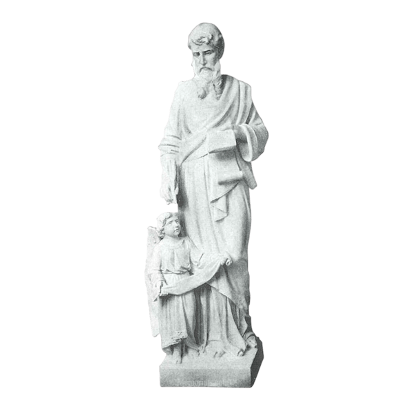 St. Matthew And Child Granite Statue