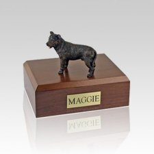 Staffordshire Bull Terrier Brindle Large Dog Urn