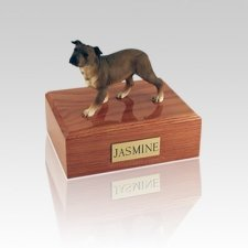 Staffordshire Terrier Standing Small Dog Urn