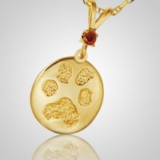 Pet Large Paw Print Gold Keepsakes
