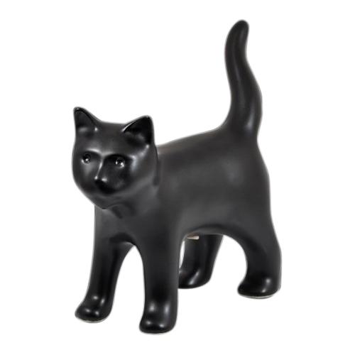 Standing Black Cat Cremation Urn