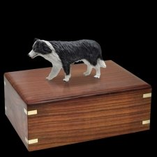 Standing Border Collie Doggy Urns