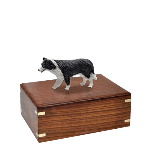 Standing Border Collie Small Doggy Urn