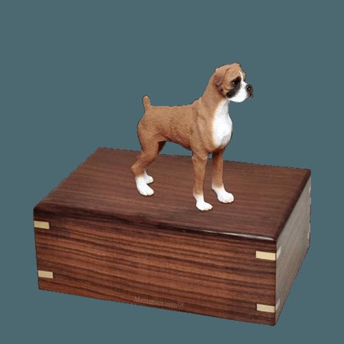 Standing Boxer Medium Doggy Urn