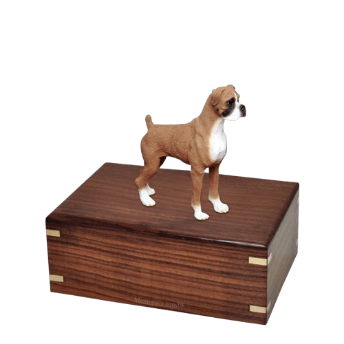 Standing Boxer Small Doggy Urn