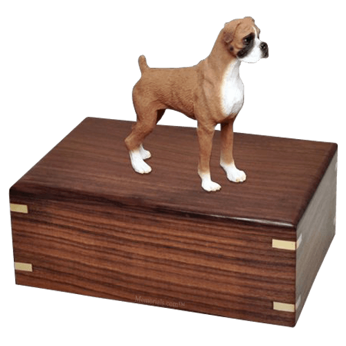 Standing Boxer Doggy Urns