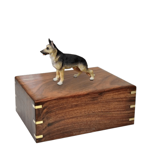 Standing German Shepherd Medium Doggy Urn