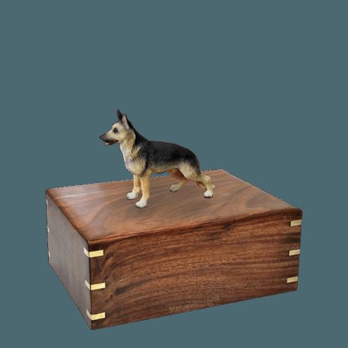 Standing German Shepherd Small Doggy Urn