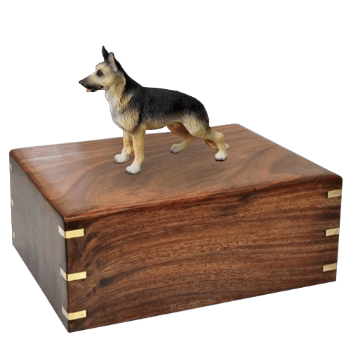 Standing German Shepherd X-Large Doggy Urn
