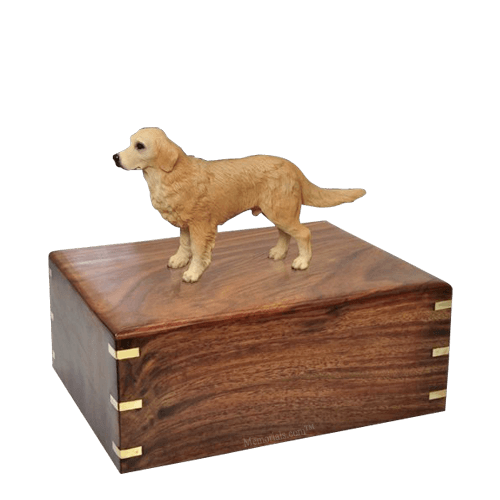 Standing Golden Retriever Medium Doggy Urn