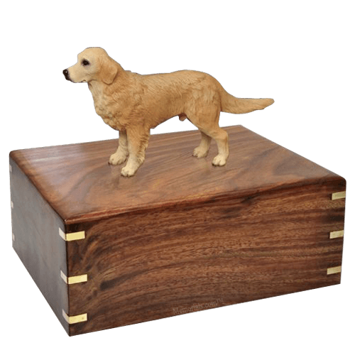 Standing Golden Retriever X-Large Doggy Urns