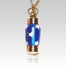 Star Spangled Cremation Pendant