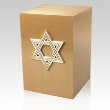 Star of David Bronze Cremation Urn