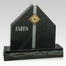 Star of David Companion Granite Headstone
