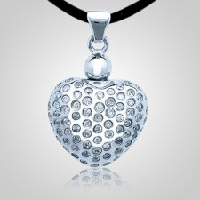 Starry Heart Cremation Pendant