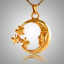 Crescent Moon Keepsake Pendant II