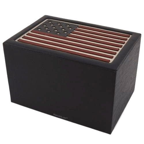 Stars & Stripes Cremation Urn