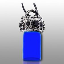 Stars Blue Pet Urn Necklace
