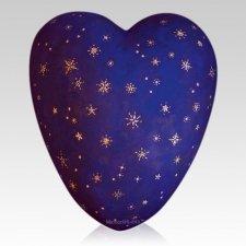Stars Ceramic Heart Urn