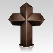 Steel Cross Companion Cremation Urn