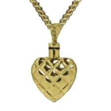 Stitched Heart Keepsake Pendant