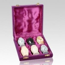 Stone Keepsake Cremation Urn Set