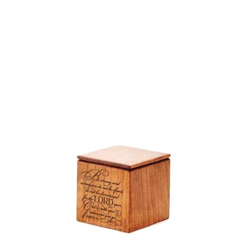 Strength Wood Keepsake Urn