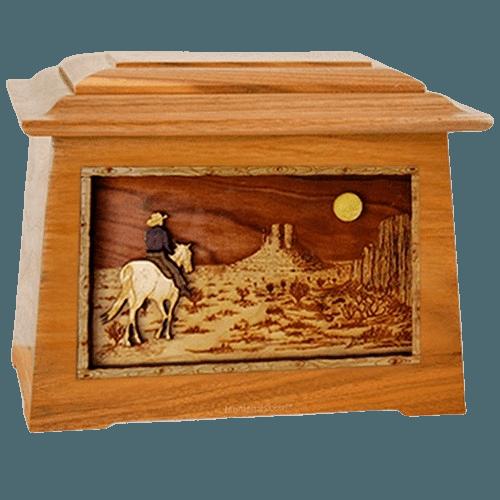 Horse Moon Mahogany Aristocrat Cremation Urn