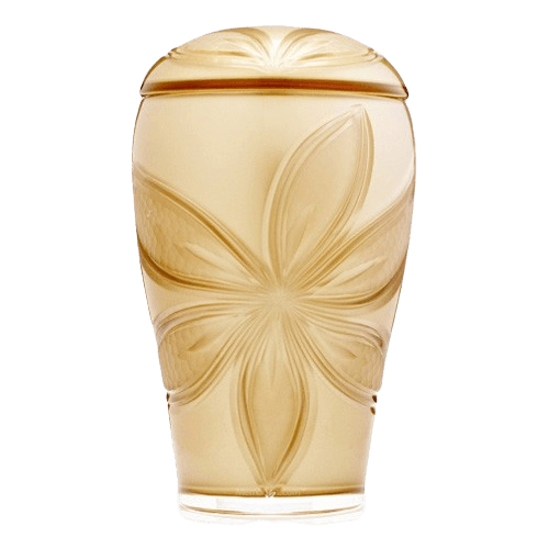 Sun Orchid Glass Cremation Urn