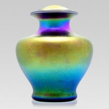 Sunburst Glass Cremation Urn