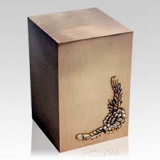 Sunflower Bronze Cremation Urn