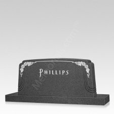 Sunflower Companion Granite Headstone