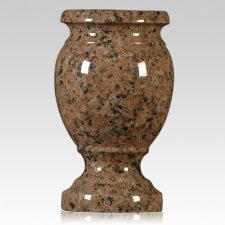 Sunset Red Granite Vase