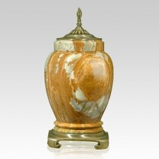 Sunstar Gold Tone Onyx Cremation Urn