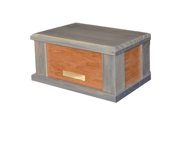 Supreme Blue Wood Cremation Urn