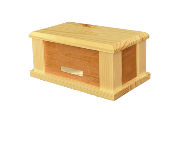 Supreme Cream Wood Cremation Urn
