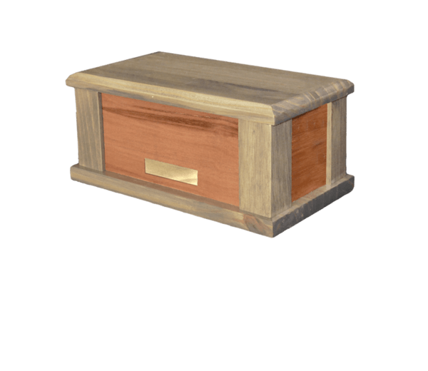 Supreme Grey Wood Cremation Urn