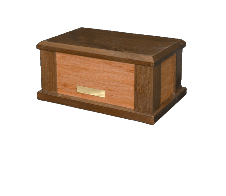 Supreme Brown Wood Cremation Urn