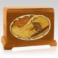 Surfer Mahogany Hampton Cremation Urn