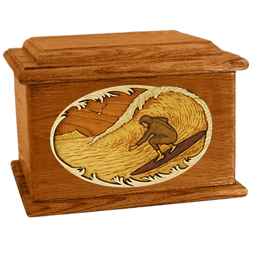 Surfer Mahogany Memory Chest Cremation Urn
