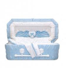 Sweetheart Blue Premie Child Casket