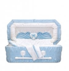 Sweetheart Blue Small Child Casket