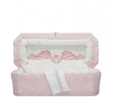 Sweetheart Pink Small Child Casket