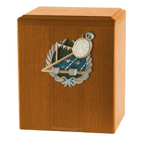 Swimmer Oak Cremation Urn