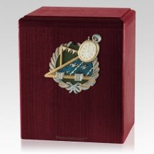 Swimmer Rosewood Cremation Urn