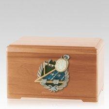 Swimming Light Cherry Cremation Urn