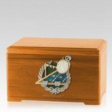 Swimming Oak Cremation Urn