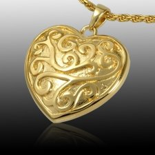 Swirling Heart Cremation Pendant II