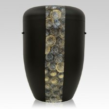 Swirls Biodegradable Urn in Black